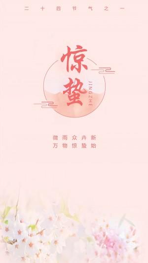 二十四节气之惊蛰粉红色的桃花图片