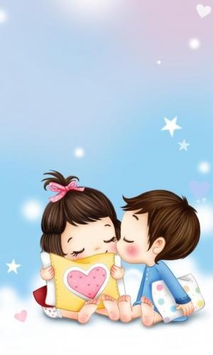 小情侣晚安之吻