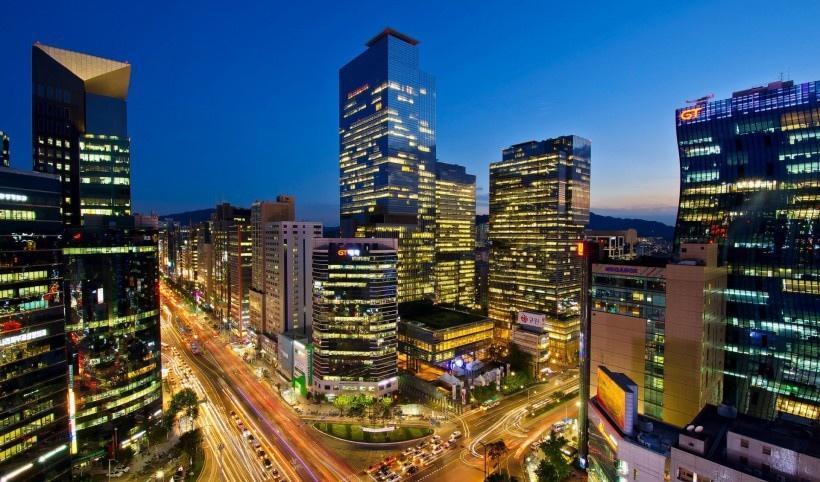 韩国首尔城市夜景写真