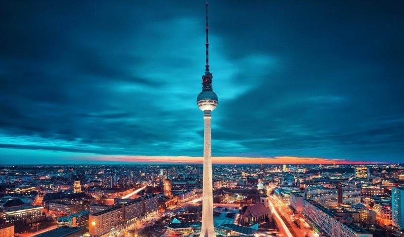 德国柏林城市夜景写真