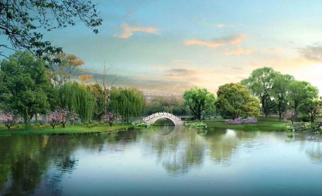 杭州西湖唯美意境高清图片