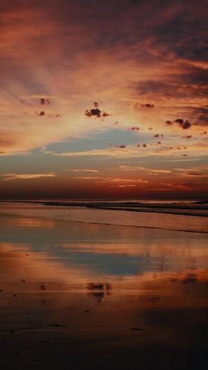 海边晚霞的唯美景色