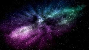 创意炫彩星空背景图片