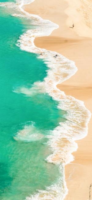 唯美海浪全面屏高清手机壁纸