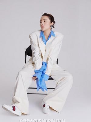 胡冰卿最新复古高级摩登范时尚杂志写真图片