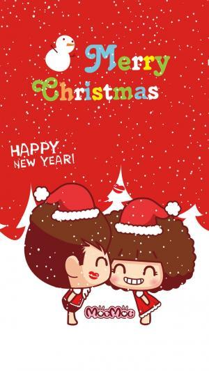 圣诞快乐卡通插画