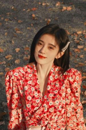鞠婧祎清新纯美户外写真图片