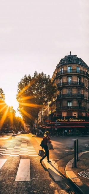 欧美城市一角优美风光高清手机壁纸