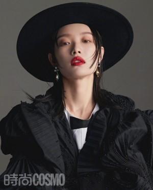 倪妮酷飒礼帽造型优雅时尚写真图片