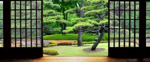 花园的房子3440x1440桌面壁纸