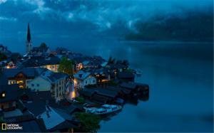 奥地利哈尔施塔特镇唯美风景图片