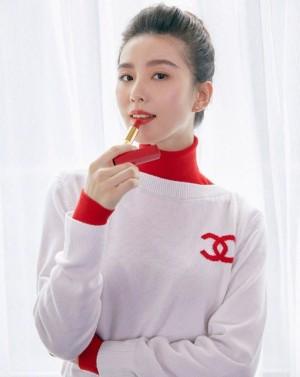 刘诗诗优雅口红广告海报图片
