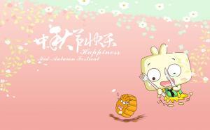 中秋节可爱卡通人物电脑壁纸