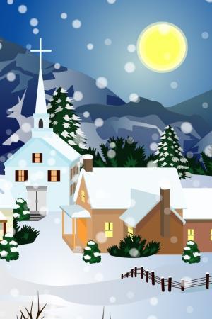 圣诞节卡通插画