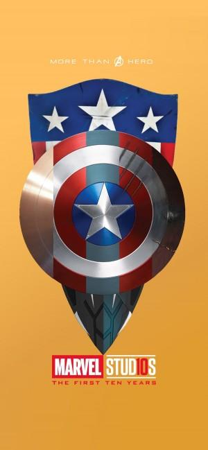漫威美国队长盾牌系列创意手机壁纸