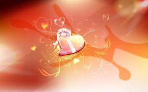 创意浪漫情人节心型图片壁纸