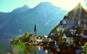 奥地利小镇美景图片桌面壁纸